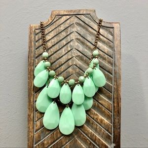 Turquoise Blue Green Teardrop Statement Necklace
